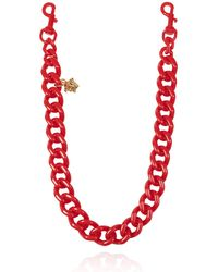 Versace Chain Bag Strap With Charm Red