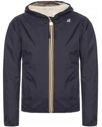 K-Way 'lily Plus Double' Reversible Jacket - Blue