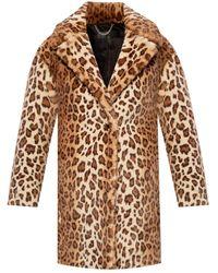 Rag & Bone Emma Leopard-print Faux Fur Coat - Brown