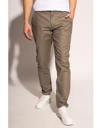 Emporio Armani Cotton Pants Gray