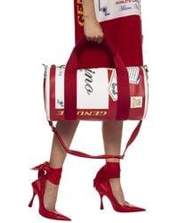 Moschino Printed Duffel Bag Red