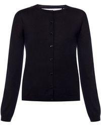 RED Valentino Appliqued Cardigan - Black