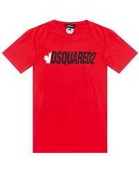 DSquared² Printed T-shirt Red