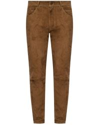 DSquared² Suede Pants - Brown
