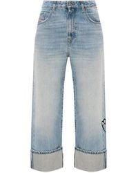 DIESEL 'D-Reggy' Stonewashed Jeans - Blue
