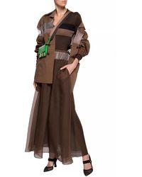 Fendi Long Sleeve Top Brown