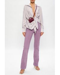Jacquemus High-waisted Jeans - Purple