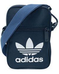 adidas Originals Branded Shoulder Bag Navy Blue