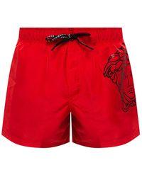 Versace Medusa Swim Shorts - Red