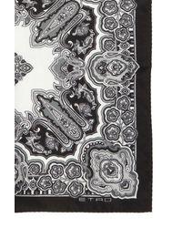 Etro Silk Pocket Square - Grey