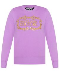 Versace Jeans Couture Sweatshirt With Logo - Purple