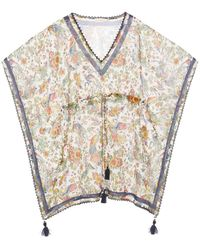 Tory Burch Printed Tie-waist Short Caftan - Multicolour