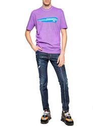 DSquared² Printed T-shirt Purple