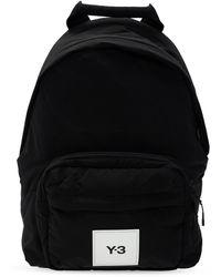 Y-3 Logo-patched Backpack - Black