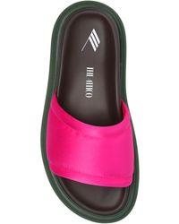 The Attico 'noah' Slides - Pink