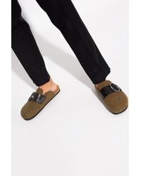JW Anderson Slides With Logo - Green