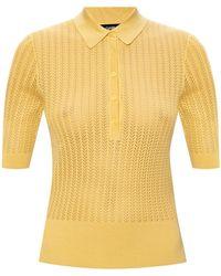 Dolce & Gabbana Short Sleeve Top Yellow