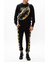 Versace Jeans Couture Joggers With Logo Black