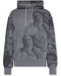 Stussy Printed Hoodie - Grey