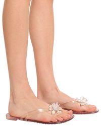 Le Silla Embellished Flip-flops White