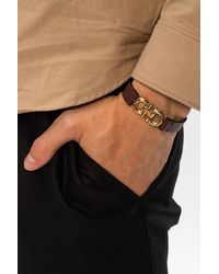 Ferragamo Leather Bracelet Brown