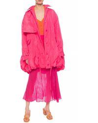 Jacquemus 'ouro' Bubble Hem Parka - Pink