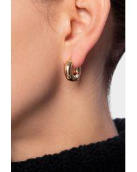 Jil Sander Round Earrings Gold - Metallic