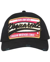 b6092ff846322 Lyst - DSquared² Embroidered Canadian Flag Baseball Cap in Black for Men