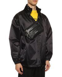 Balenciaga Belt Bag With Logo - Black