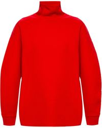 Givenchy Ribbed Turtleneck Sweater - Red