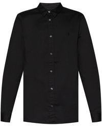 AllSaints 'hawthorne' Shirt With Logo - Black
