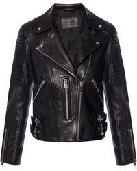 AllSaints - 'estella' Biker Jacket - Lyst