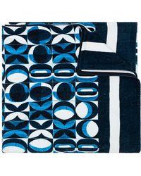 Dolce & Gabbana Towel With Logo - Blue