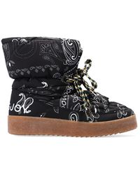 Khrisjoy Snow Boots With Paisley Motif - Black