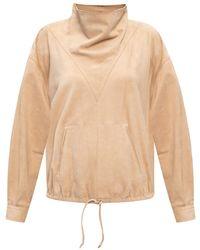 Isabel Marant Leather Sweatshirt Beige - Natural