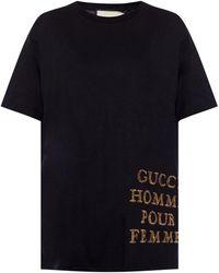 d8d2a2faaffd Gucci Red 'gg' Diamond T-shirt in Red - Lyst