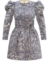 Ulla Johnson - 'domino' Denim Dress Blue - Lyst