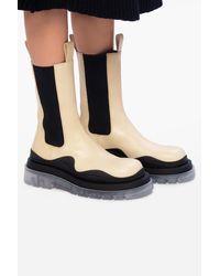 Bottega Veneta 'bv Tire' Platform Chelsea Boots - Black