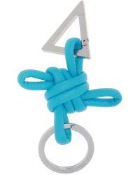 Bottega Veneta Logo-embossed Keyring Unisex Blue