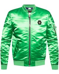Philipp Plein Bomber Jacket Green