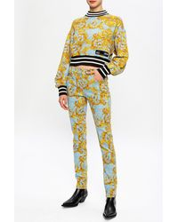 Versace Jeans Couture Barocco-printed Jeans - Blue