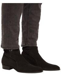 Saint Laurent 'wyatt Jodhpur' Ankle Boots Black