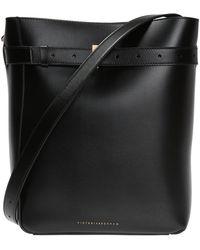 Victoria Beckham 'twin Bucket' Shoulder Bag Black