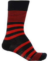 Yohji Yamamoto Striped Socks - Red