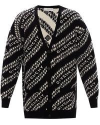 Givenchy Cardigan With Logo - Black