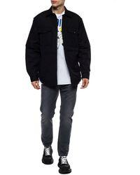 DIESEL Printed Jacket Black
