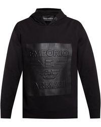 Emporio Armani Logo Hoodie Black