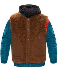 DIESEL 'w-heroesy' Jacket With Detachable Vest - Blue