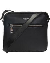 Dolce & Gabbana Logo Shoulder Bag - Black