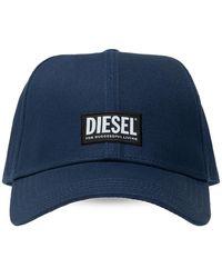 DIESEL Baseball Cap With Logo Unisex Navy Blue